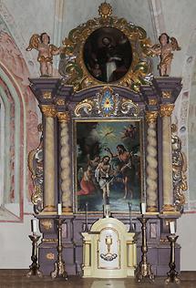 Johanneskirche Pfarre Vuceniza Hochaltar