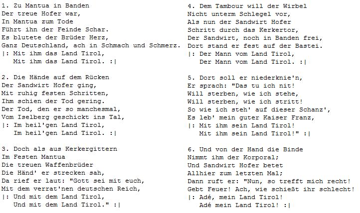 Italienische Nationalhymne Auf Deutsch