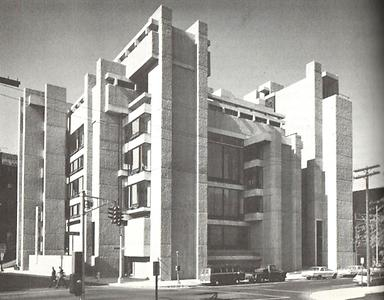 Yale University, New Haven, P. Rudolph, 1958 -63.