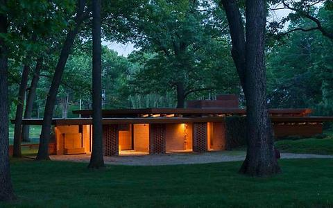 Bloomfield Hills House, Wright, 1941.