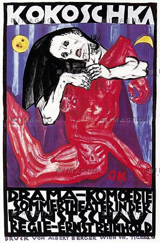 Plakat anläßlich der Kunstschau 1909 | Kokoschka, Oskar