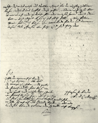 Brief von W. A. Mozart, © IMAGNO/Austrian Archives