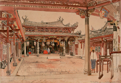 The Tjintak Kjong Temple, © IMAGNO/Austrian Archives (AA)