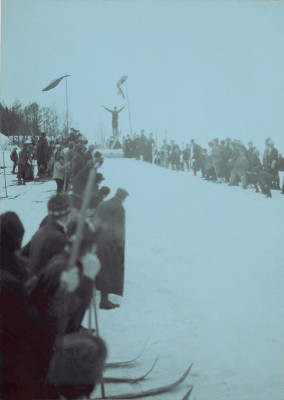 Skispringen in Zell am See, © IMAGNO/Austrian Archives