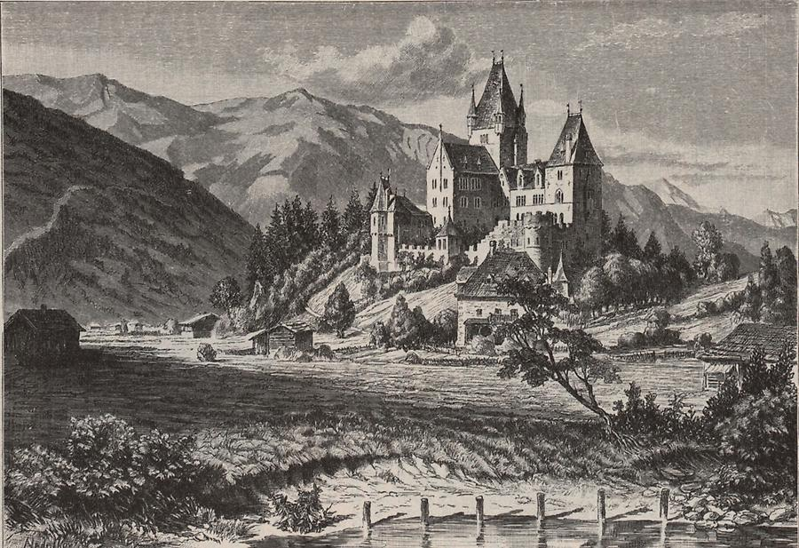 Illustration Schloss Fischhorn