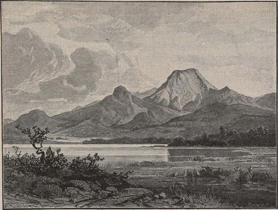 Illustration Faakersee mit Mittagskogel
