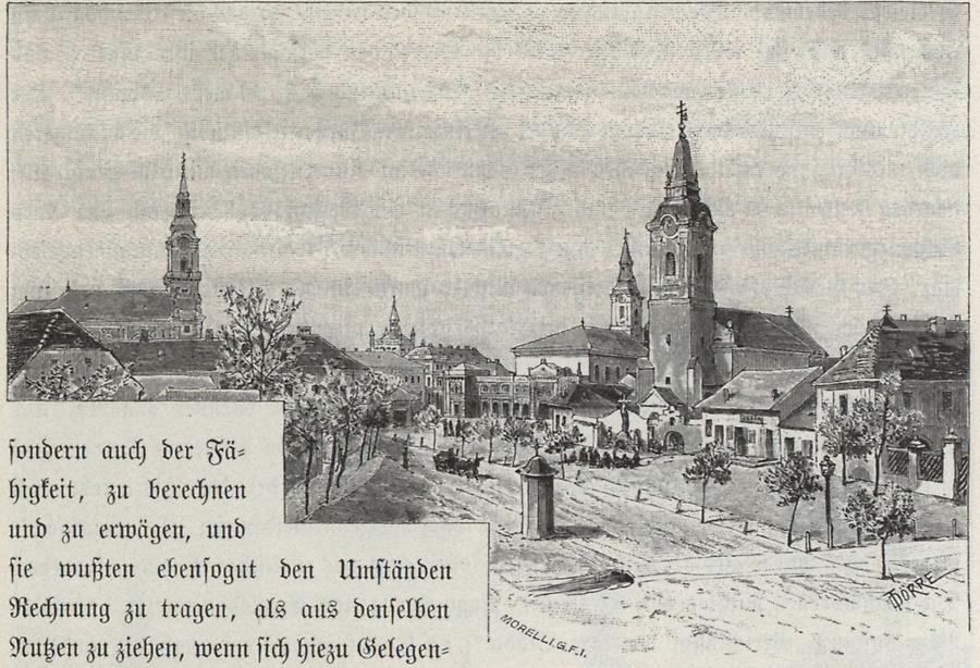 Illustration Deakplatz in Kecskemet