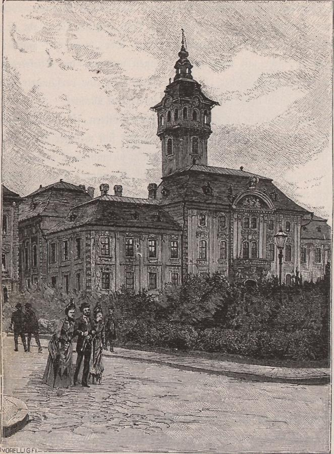 Illustration Rathhaus zu Szegedin