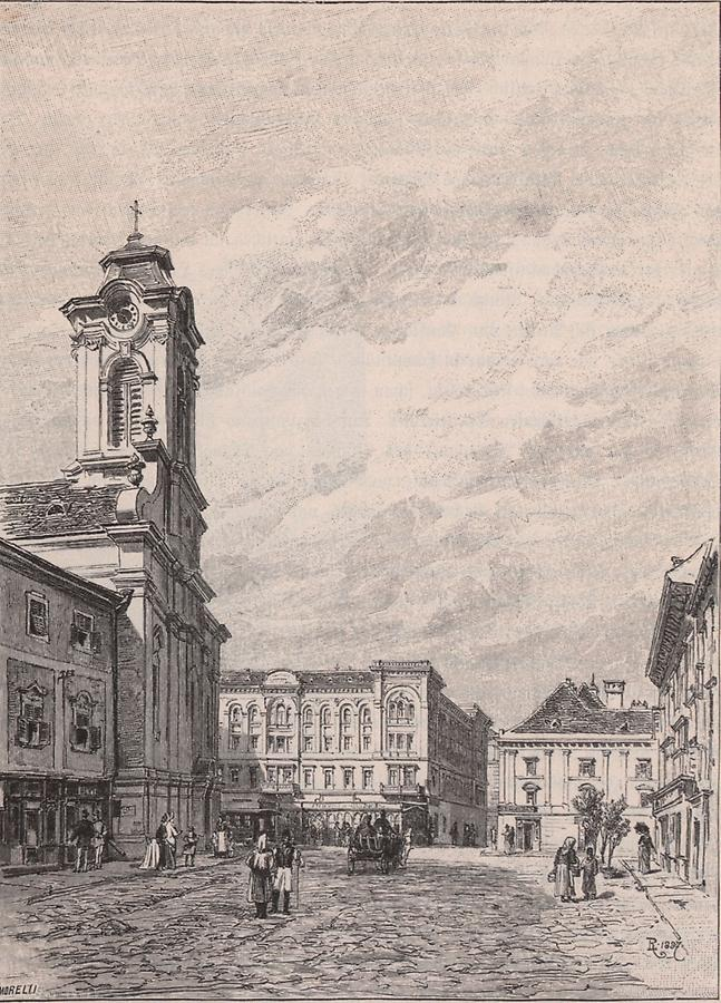 Illustration St. Georgsplatz zu Temesvar