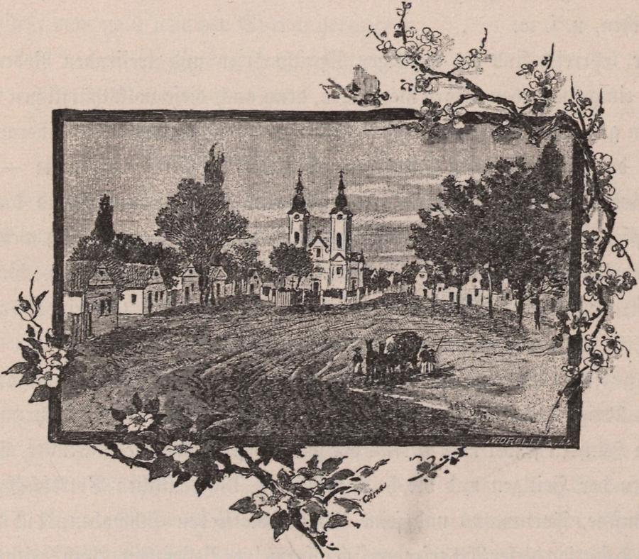 Illustration Kirchenplatz zu Sändorhäza