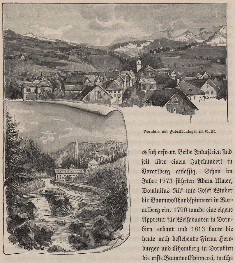 Illustration Dornbirn und Gütle