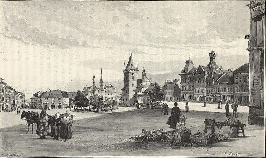 Illustration Ringplatz von Leitmeritz