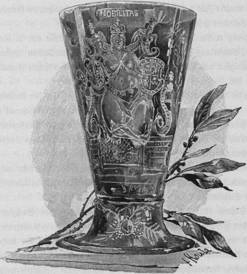 Illustration Glas von C. Leman