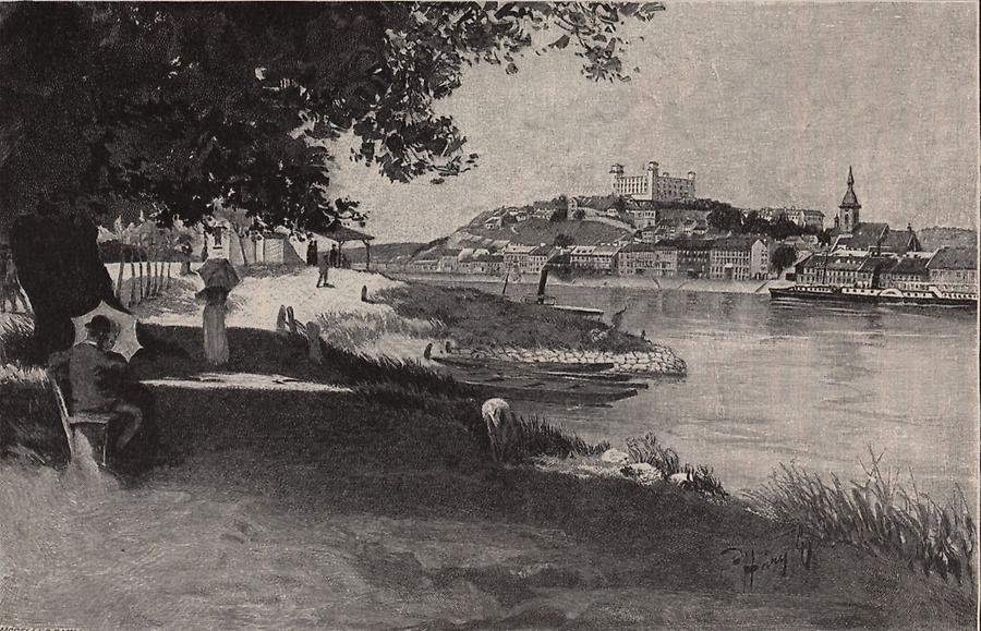 Illustration Donau bei Preßburg