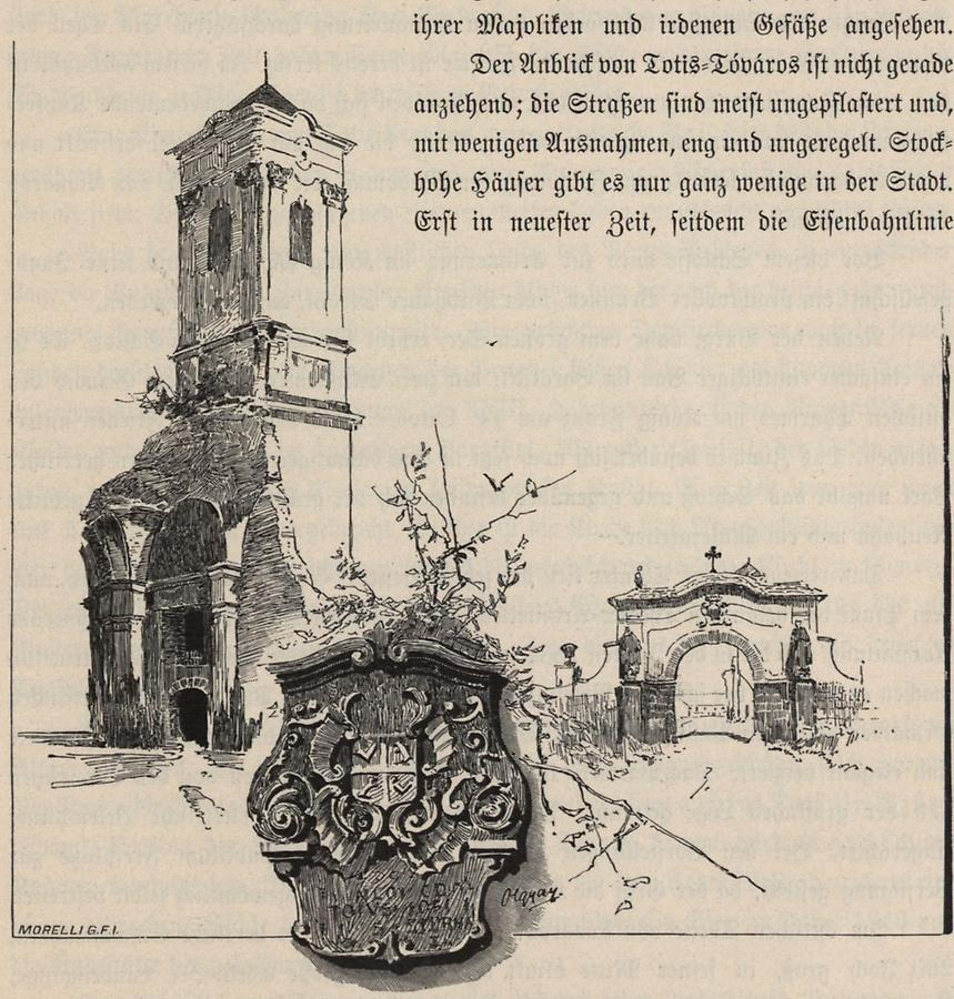 Illustration Kloster in Majk 18. Jhdt.