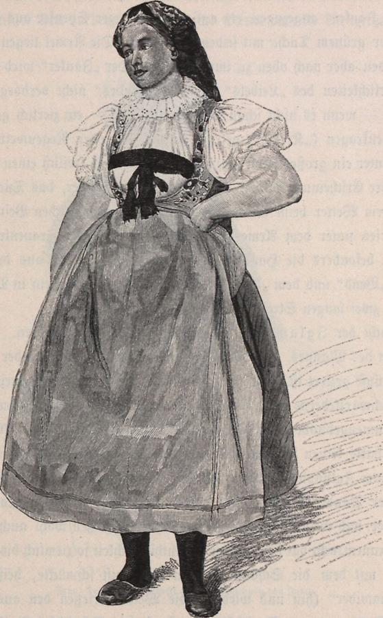 Illustration Deutsche Volkstracht (1)