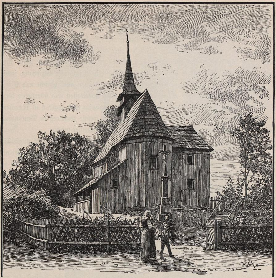 Illustration Holzkirche in Hohendorf