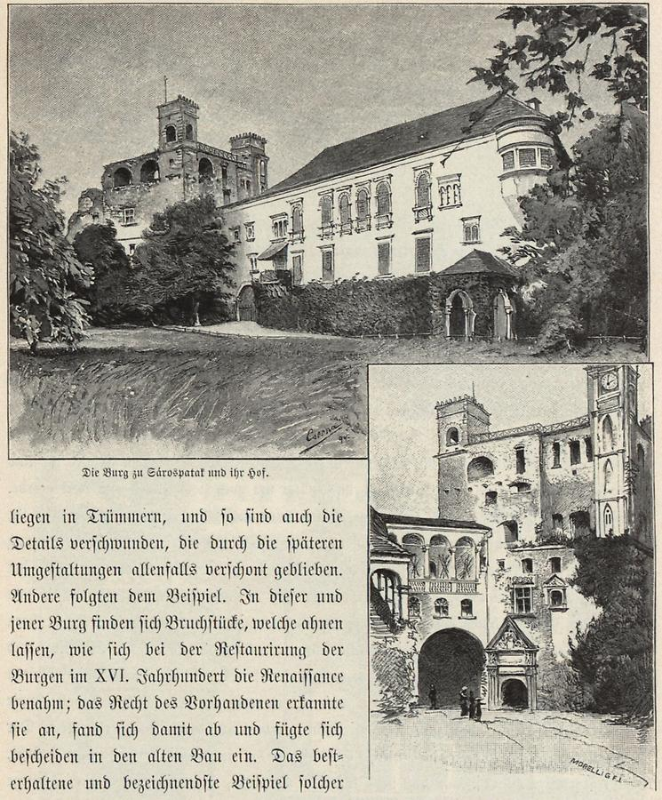 Illustration Burg zu Sarospatak
