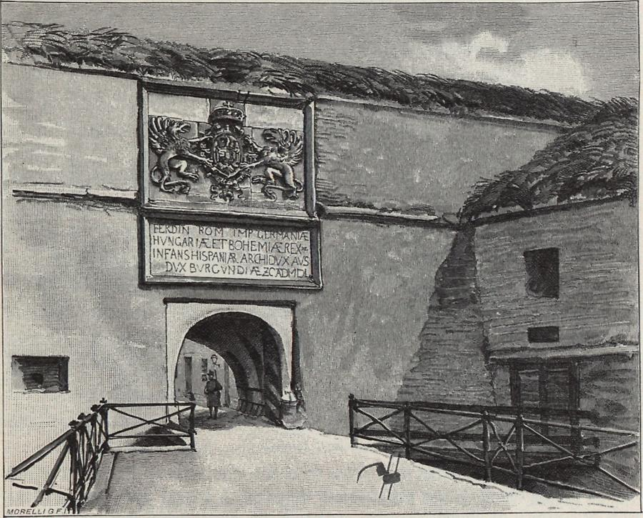 Illustration Festung in Komorn