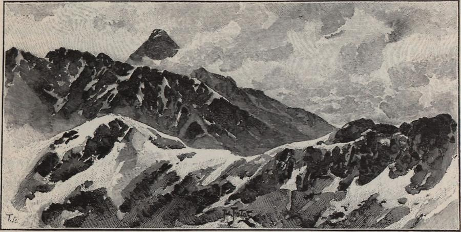 Illustration Krywau-Kette in der Tatra