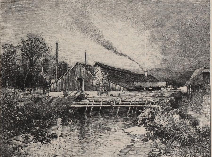 Illustration Hammerwerk in Eisenau