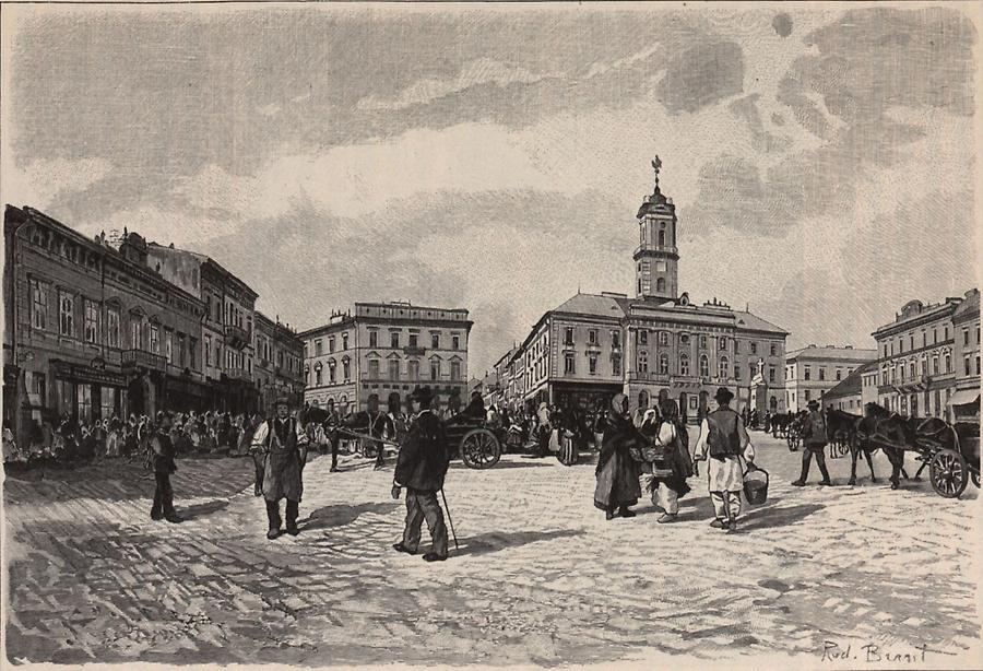 Illustration Rathausplatz Czernowitz