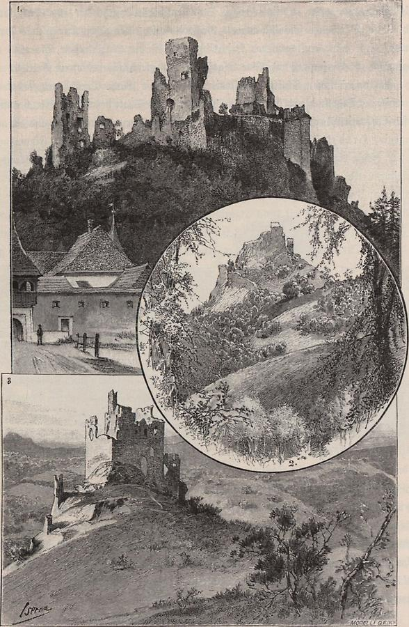Illustration Burg Diveny