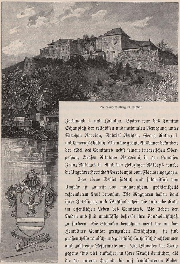 Illustration Drugeth-Burg in Ungvar