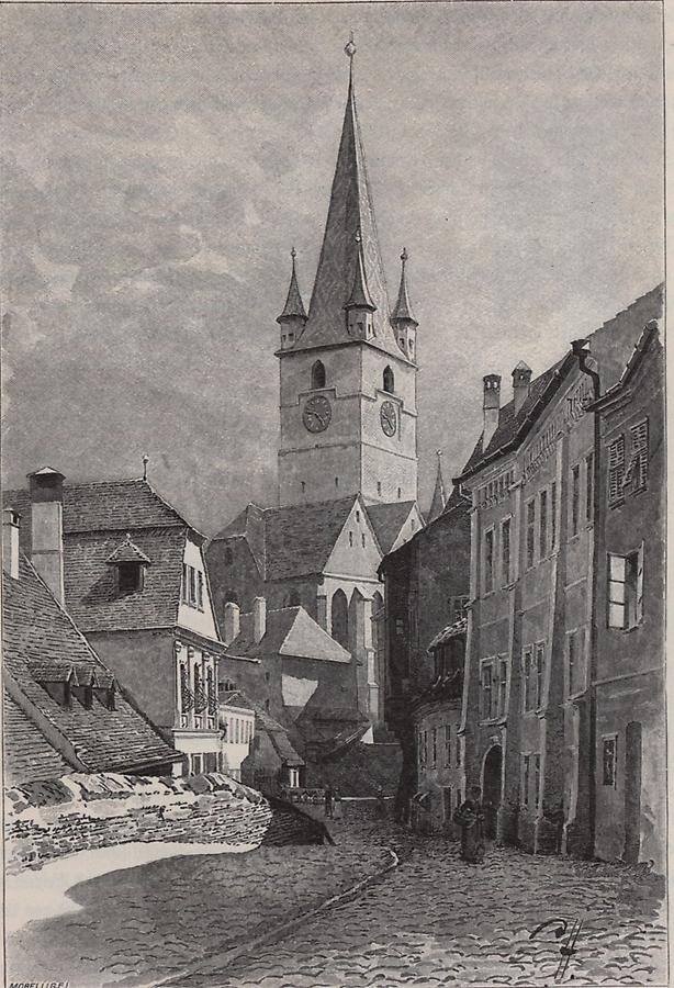 Illustration Hauptkirche in Hermannstadt