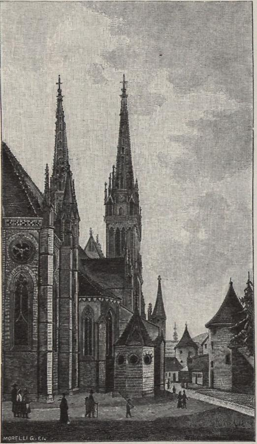 Illustration Domes St. Stefan Rückansicht