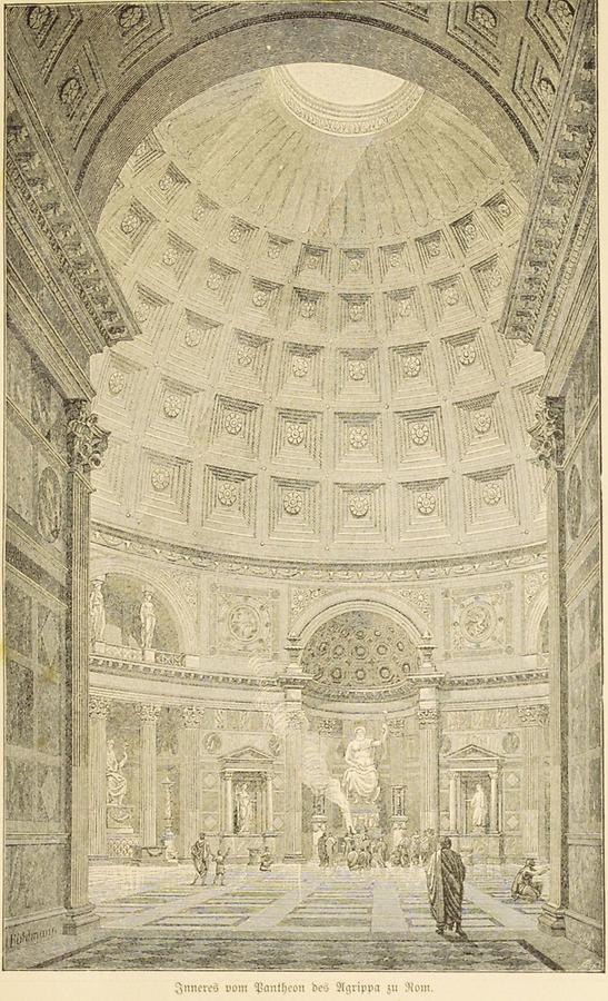 Illustration Pantheon des Agrippa in Rom