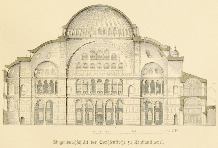 Illustration Sophienkirche zu Konstantinopel