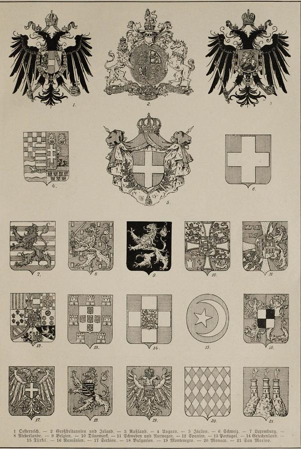 Illustration Wappen (Tafel III)