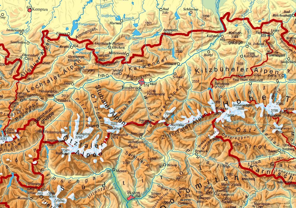 Tirol Landkarte Osterreich Alles Uber Osterreich Community