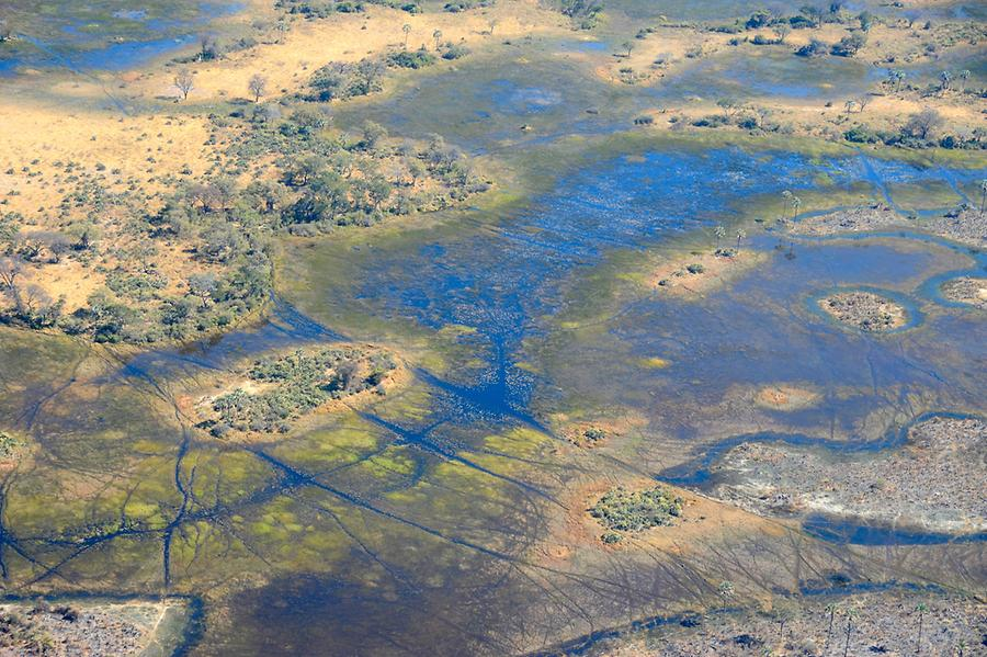 Flight over Okavango