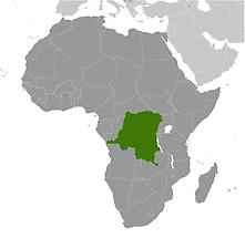 Congo, Democratic Republic of the in Africa