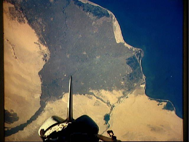 Nile Delta, space shuttle view