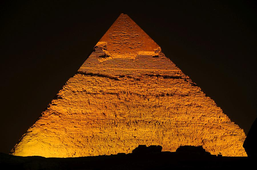 Pyramid of Khafre at Night