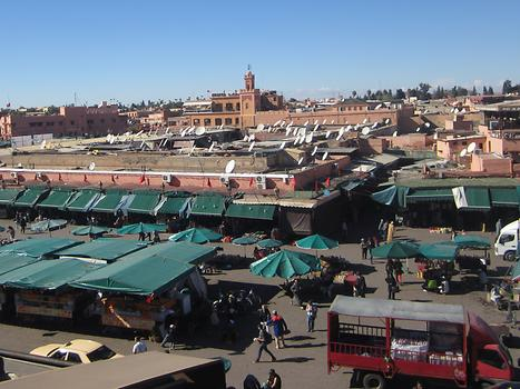 Djemaa El Fna from above, Photo: © K. Wasmeyer 2016