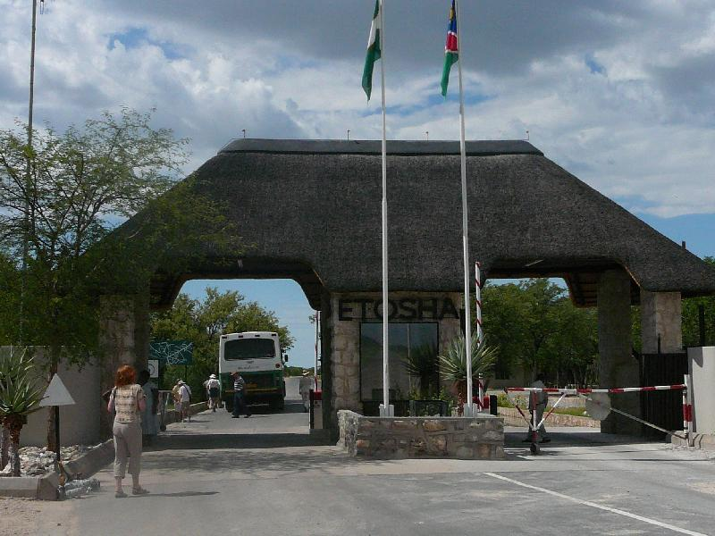 Entrance to the Etosha National Park