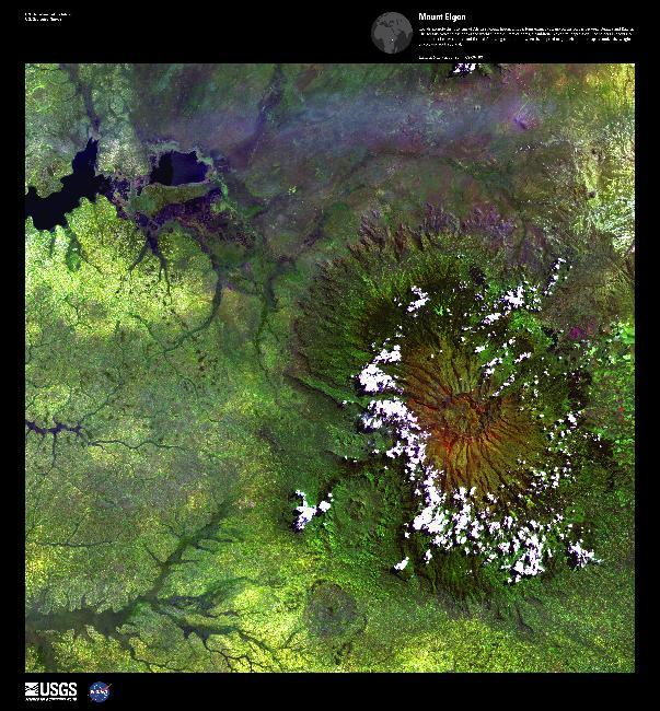 Mount Elgon, Satellite Image