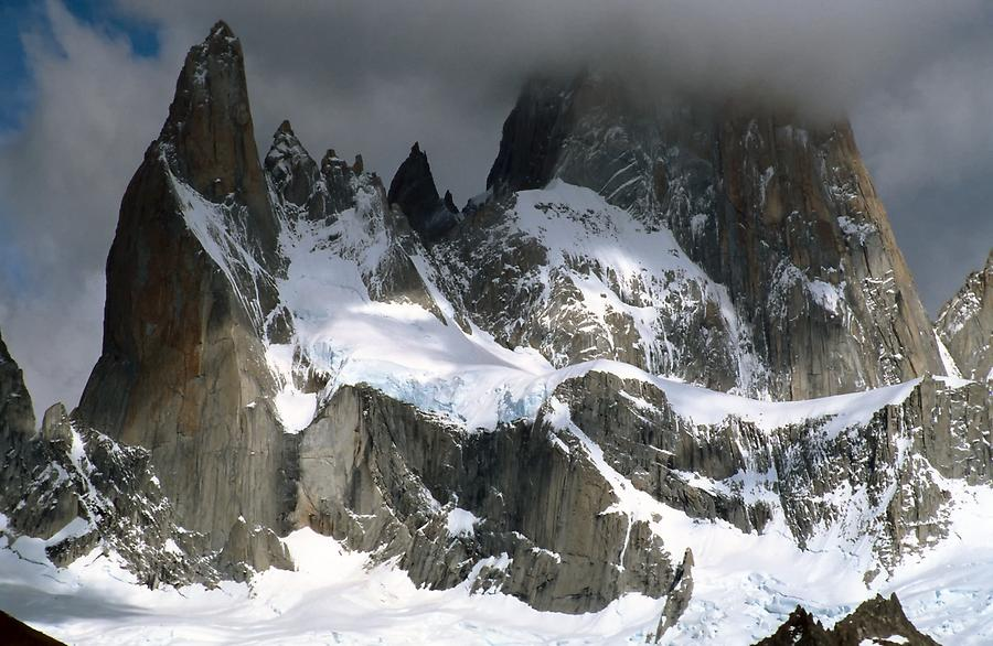 Mount Fitz Roy in Clouds