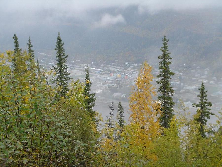 Dawson City after crossing Yukon, Photo: H. Maurer, Fall 2005