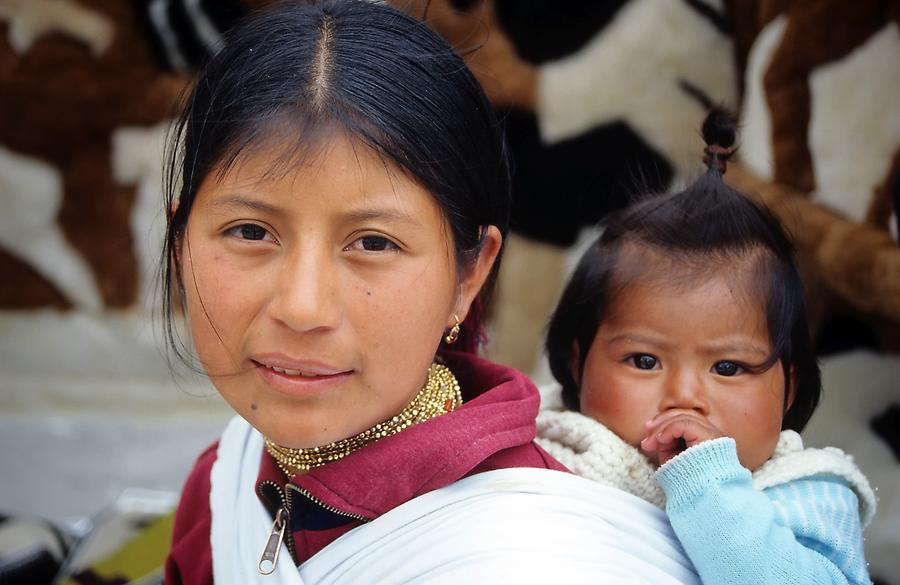 Native Woman with Child