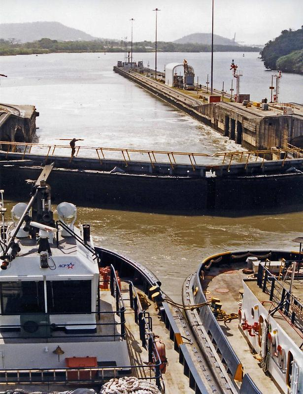 Tugs and lock gates