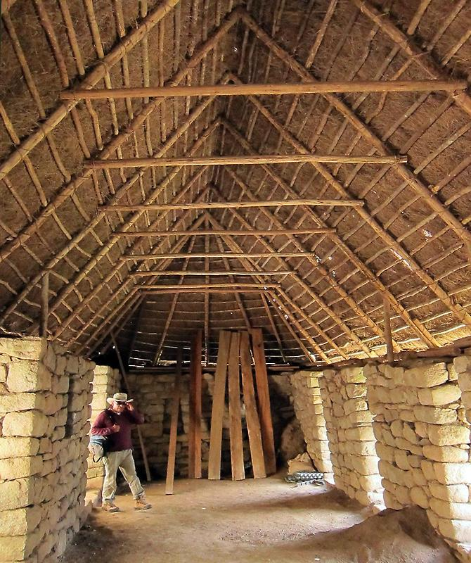 Thatched roof from the inside