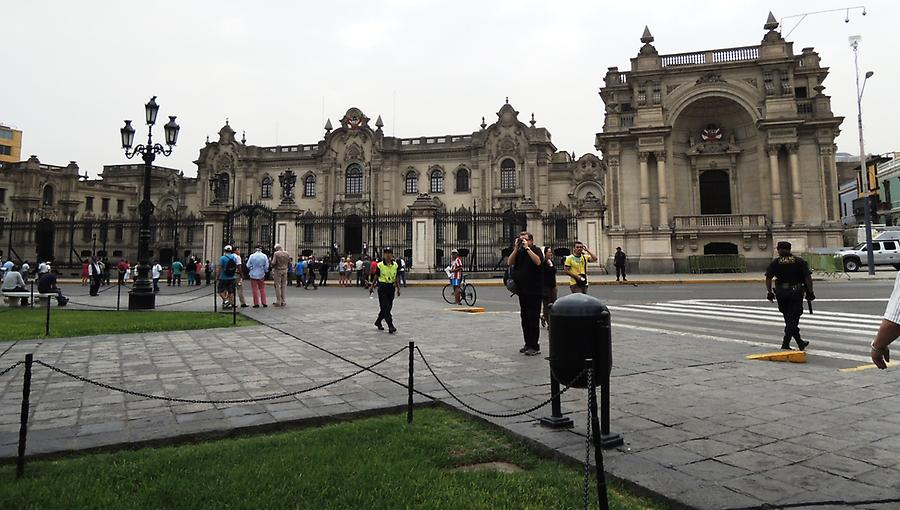 Government Building at Plaza Mayor in Lima