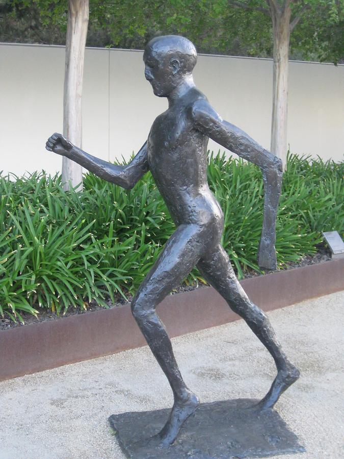 LA Getty Center Sculpture Garden Running Man Elisabeth Frink