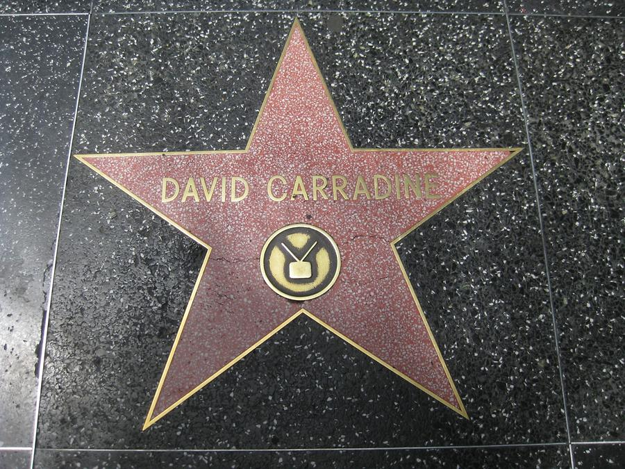 Hollywood Walk of Fame David Carradine Star