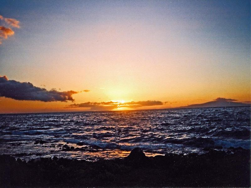 Sunset over Maui